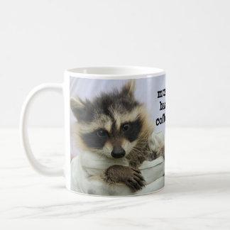 Taza de café linda del mapache del bebé, café de H