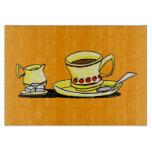 taza de café linda tabla para cortar