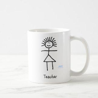 Taza de café linda y divertida del profesor