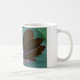 Taza de café - lirio 001 del negro del arte pop