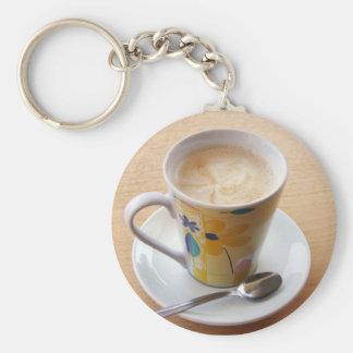taza de café llavero redondo tipo pin