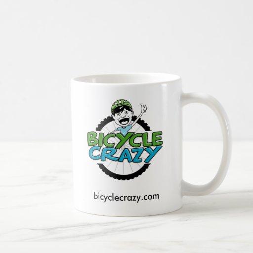 Taza de café loca de la bicicleta