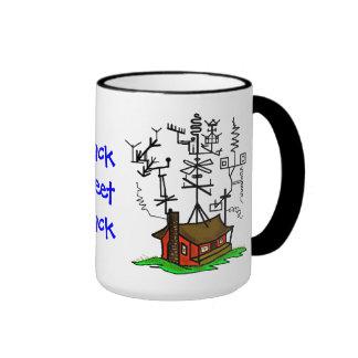 Taza de café loca del hogar del equipo de