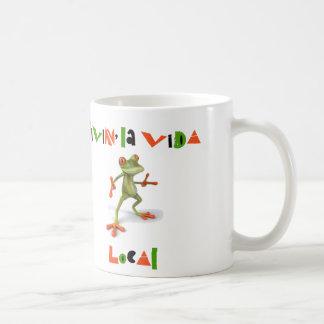 Taza de café local de Vida del La de Livin