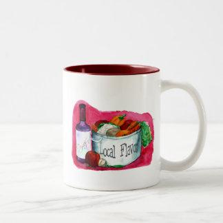 Taza de café local del sabor del cristal