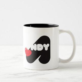 Taza de café Loves Andy Name