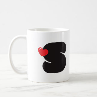 Taza de café Loves S Initial