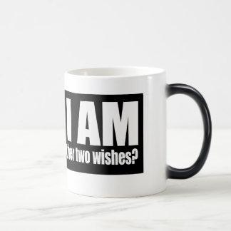 Taza de café mágica del deseo