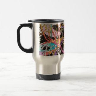 Taza de café mágica del viaje de las setas