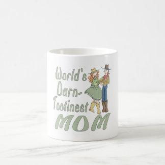 Taza de café maldita de la diversión de la mamá de