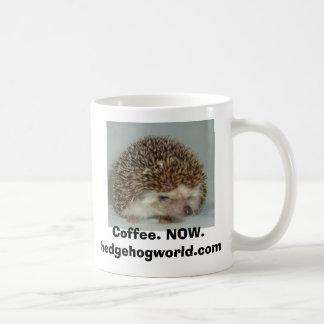taza de café malhumorada del erizo