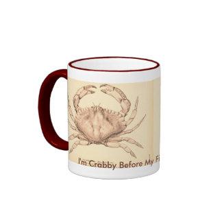 Taza de café malhumorada divertida del humor del C
