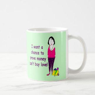 ¡Taza de café malhumorada, irritable del nacido en