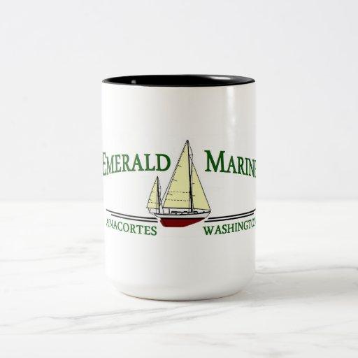 Taza de café marina esmeralda