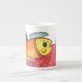 Taza de café mexicana de la escena taza de porcelana