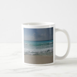 Taza de café mexicana de la playa