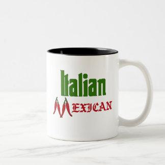 Taza de café mexicana italiana