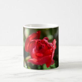 Taza de café miniatura del rosa rojo