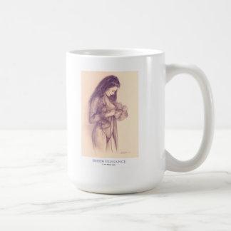 """Taza de café modela del chica de la """"ELEGANCIA"""