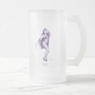 "Taza de café modela del chica de ""ROXY"""