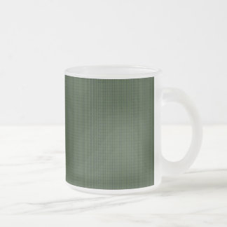 Taza de café modelada de color verde oscuro