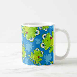 Taza de café modelada rana linda