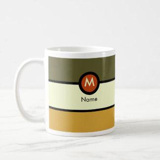 Taza de café moderna del monograma