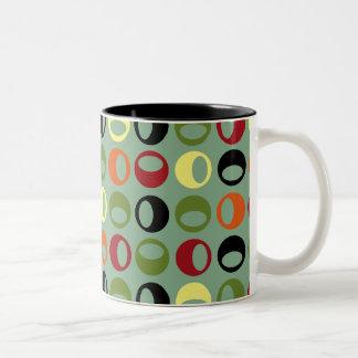 Taza de café moderna retra fresca de las esferas