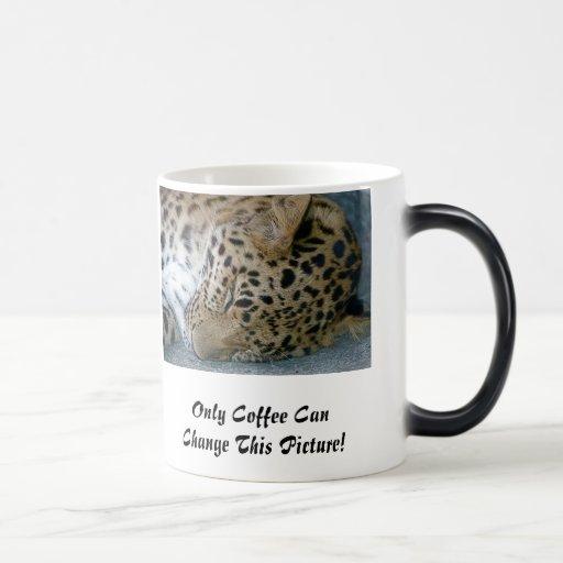 Taza de café Morphing del leopardo