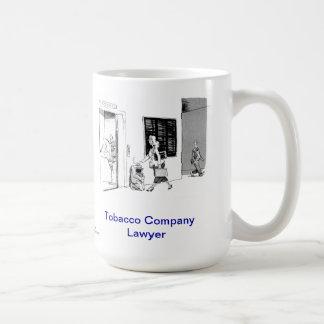 Taza de café muerta del abogado de la compañía tab
