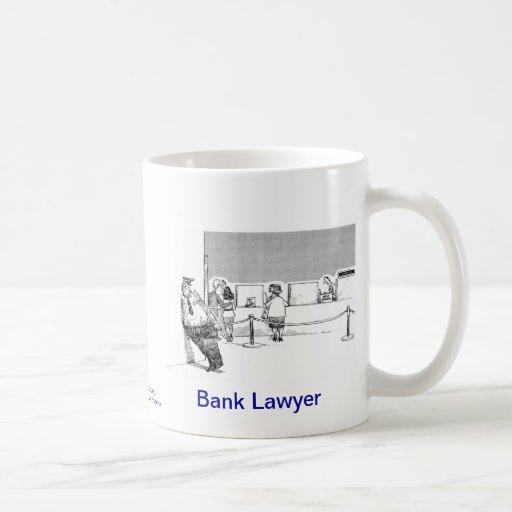 Taza de café muerta del abogado del banco de Lawye