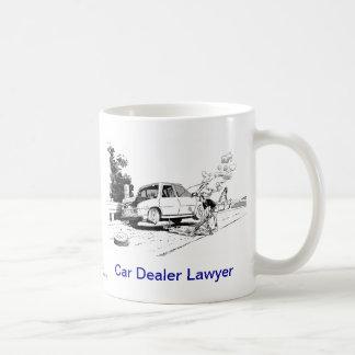 Taza de café muerta del abogado del concesionario