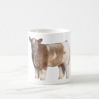 Taza de café mullida de la vaca