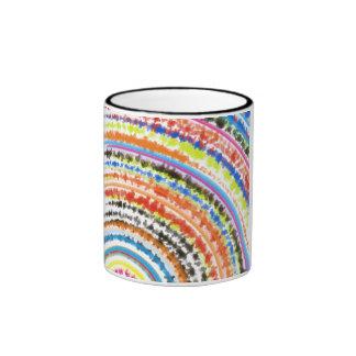 Taza de café multicolora