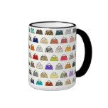 Taza de café multicolora del modelo del bolso