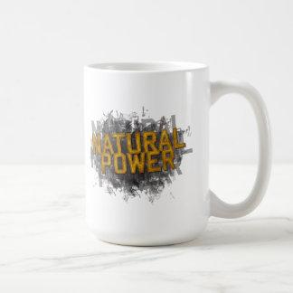 Taza de café natural del poder