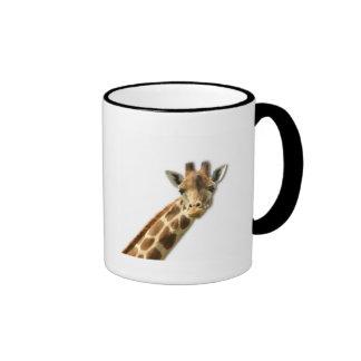 Taza de café Necked larga de la jirafa