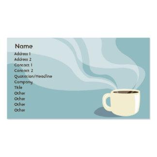 Taza de café - negocio tarjetas de visita