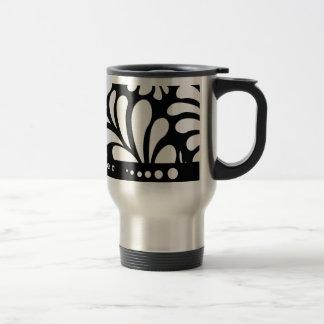 Taza de café negra personalizada MOD del viaje de
