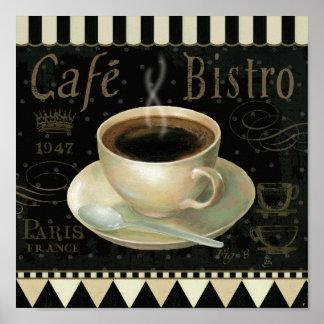 Taza de café negra póster