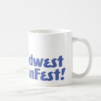 Taza de café oficial del logotipo de Cercano oeste