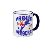 Taza de café orgullosa de Demócrata