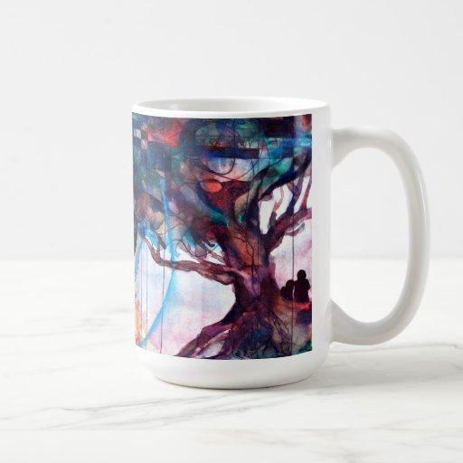 Taza de café original del arte del árbol