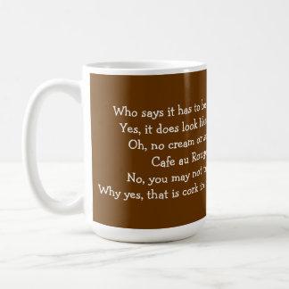Taza de café para el vino