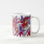 taza de café patriótica de los colores con diseño