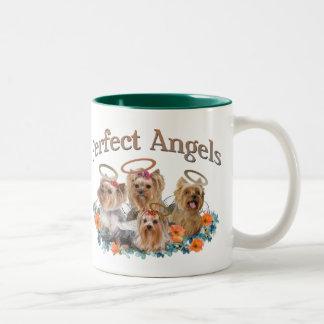 Taza de café perfecta de 4 ángeles de Yorkie