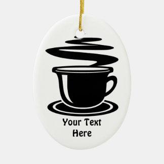 Taza de café (personalizable) ornamentos de navidad