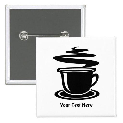 Taza de café (personalizable) pin cuadrado
