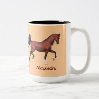 Taza de café personalizada amante del caballo de