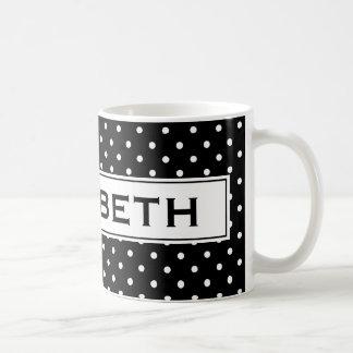 Taza de café personalizada con los lunares